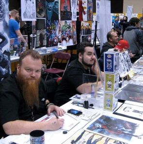 Mike Rooth (far left) is completely at home at Toronto's recent Comic Con