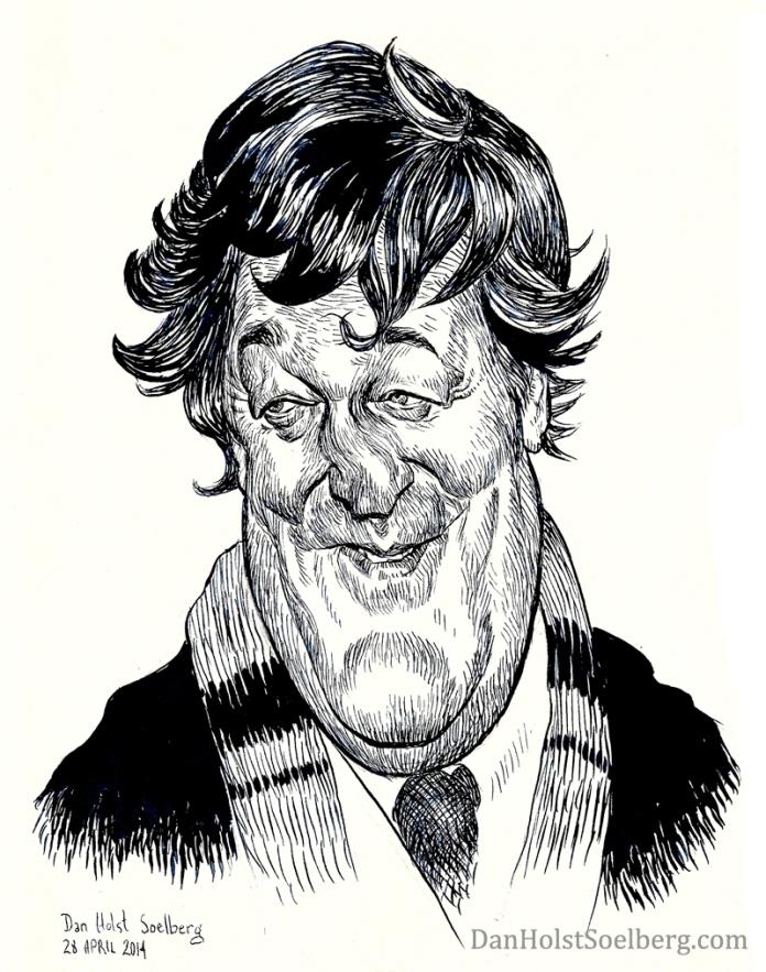 Dan Holst Soelberg's caricature drawing of Stephen Fry
