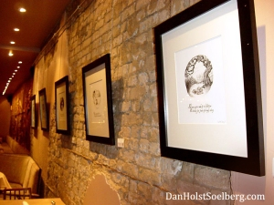 "My first exhibition of artwork from the book ""Dwellers of Lurching Swill"" in November, 2011"