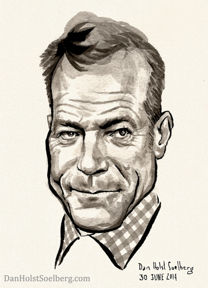 Caricature of Bryan Cranston by Dan Holst Soelberg