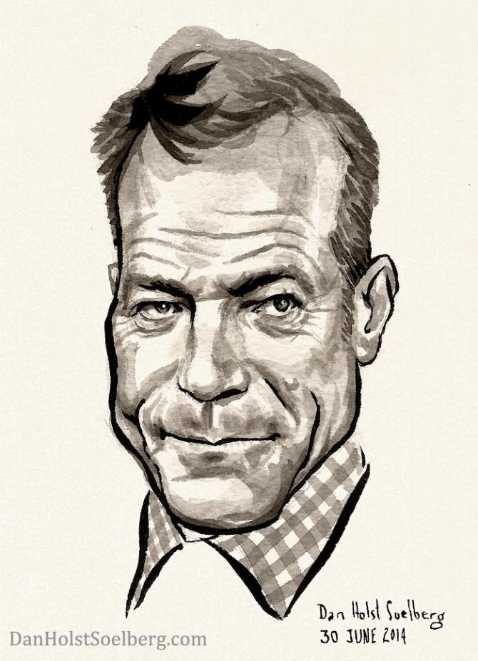 Caricature of Bryan Cranston by Dan Holst Soelberg