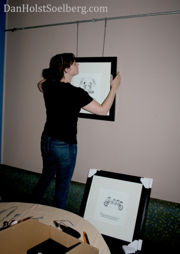 Jaime hanging artwork