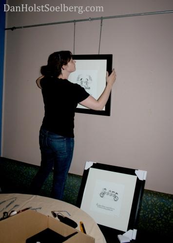 Jaime hanging artwork