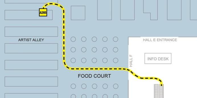 Fan Expo 2014: path to Dan Holst Soelberg's table A265