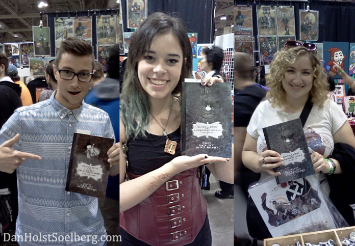 I snapped some photos of fans with my books. You are all my favourites. I love you equally.