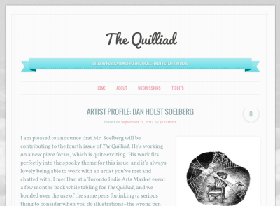 The Quilliad profile on Dan Holst Soelberg