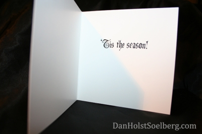 Inside Christmas card by Dan Holst Soelberg
