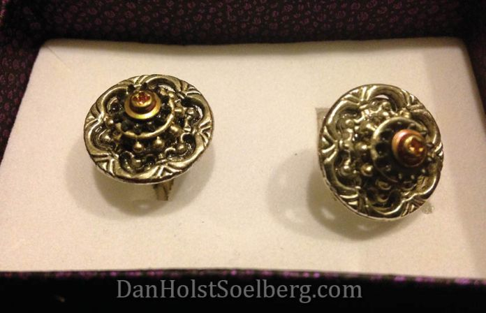 My precious new Steampunk cuff links. Thank you Colleen!