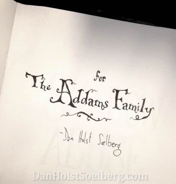 Dan Holst Soelberg book dedicated to the Addams Family