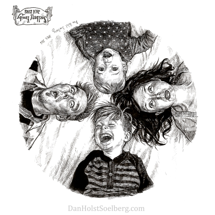 2015 Soelberg Family Portrait (upside down) drawing