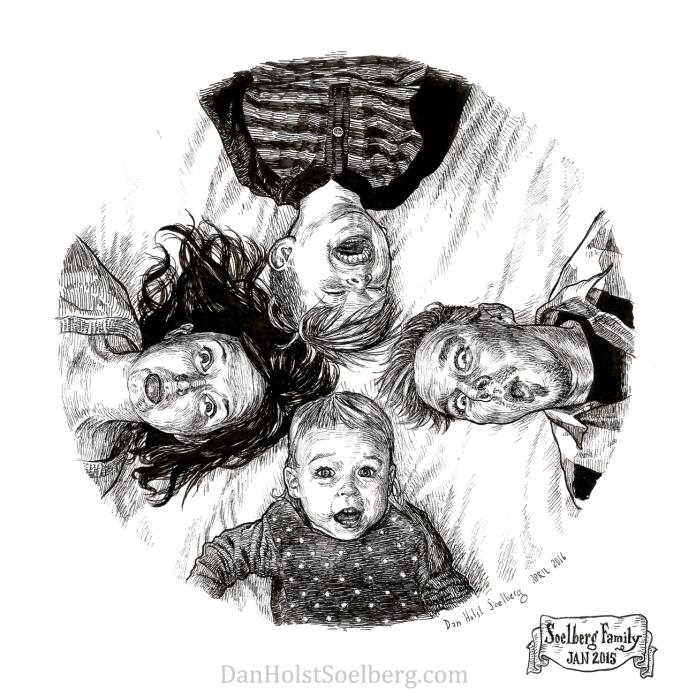 2015 Soelberg Family Portrait drawing pen