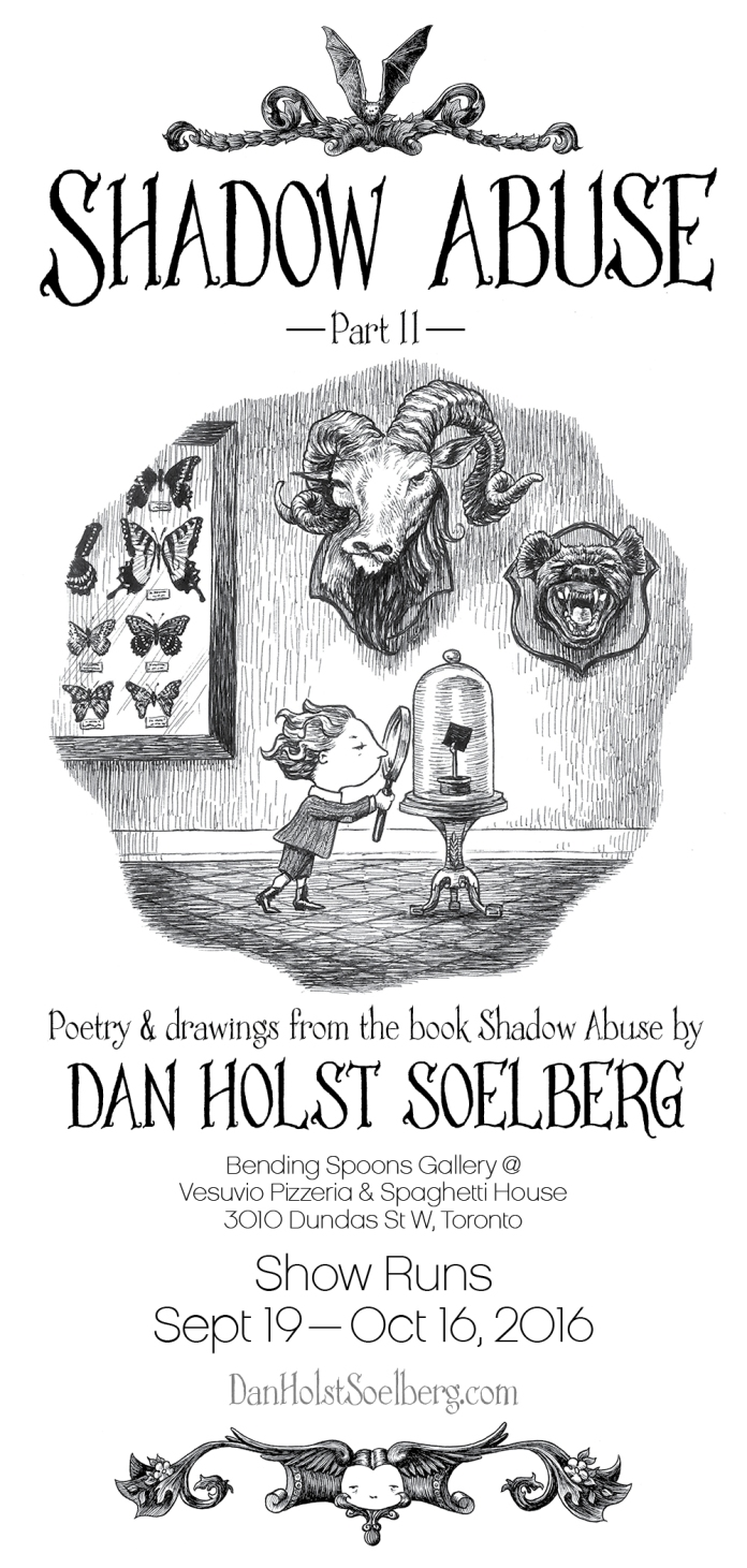 Dan Holst Soelberg Shadow Abuse Art Exhibition - Invitation