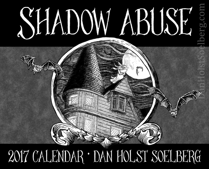 2017 Shadow Abuse calendar cover by Dan Holst Soelberg