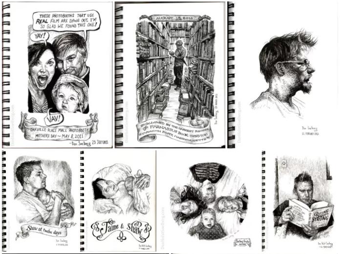 Excerpt of sketches by Dan Holst Soelberg