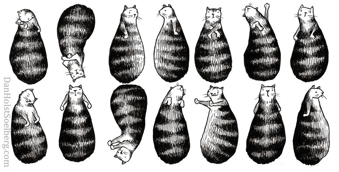Dan Holst Soelberg - Cat Print Art